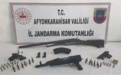 Kalaşnikof marka uzun namlulu tüfek ele geçirildi