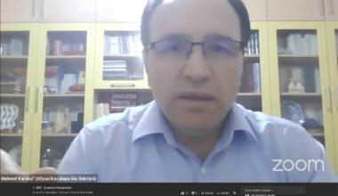 Rektör Karakaş, salgının sosyolojisini anlattı