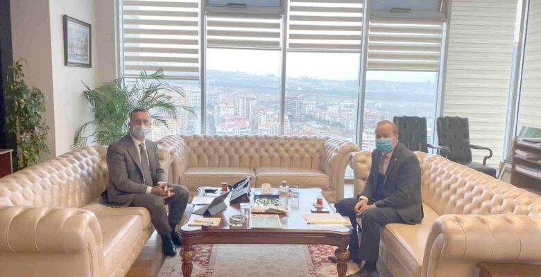 Taytak, İller Bankası Genel Müdürü Büyük'ü ziyaret etti
