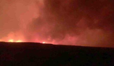 Yine Eber Gölü yine yangın faciası