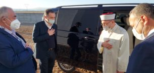 Diyanet işleri Başkanı, Mehmet Sayın'ı ziyaret etti