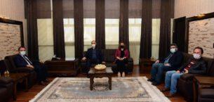 Rektör Karakaş Türk Kızılay Yetkililerini Kabul Etti