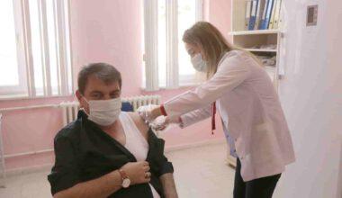 Başkan Sarı, Covid-19 aşısı oldu