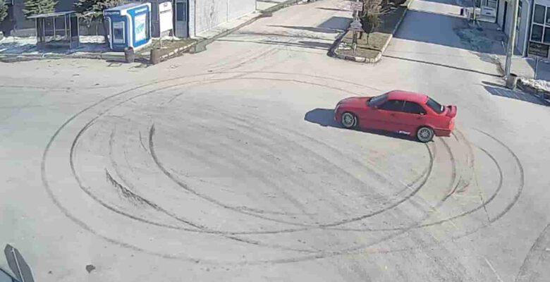 Kısıtlamada drift atan sürücüye 7 bin TL'ye yakın para cezası kesildi