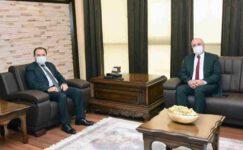 Rektör Karakaş Baro Başkanı Şahin'i kabul etti