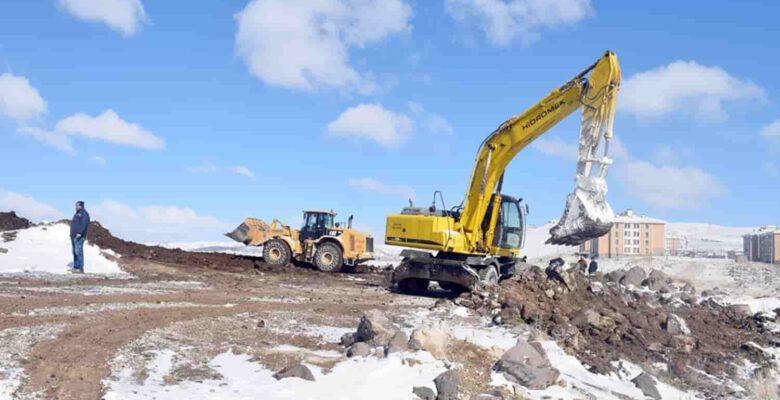 TOKİ bölgesine yapılacak caminin inşaat çalışmaları başladı