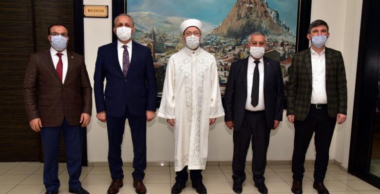 DİYANET İŞLERİ BAŞKANI PROF. DR. ALİ ERBAŞ'TAN BELEDİYEYE ZİYARET