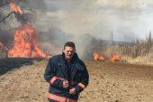 Tavşanlı ilçesi Tepecik Beldesi yakınlarında öğle saatlerinde sazlık alanda yangın çıktı.