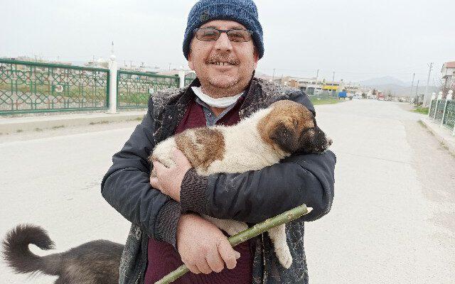Ekmek almaya giderken sesini duyduğu köpeği düştüğü yerden kurtardı