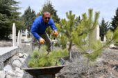 İscehisar'da mezarlıklarda temizlik yapıldı
