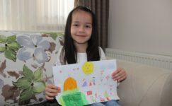 5 yaşındaki küçük Nursare'nin duygulandıran resmi