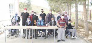 Engelli Bakım Merkezinde sabun üretimi yapıldı