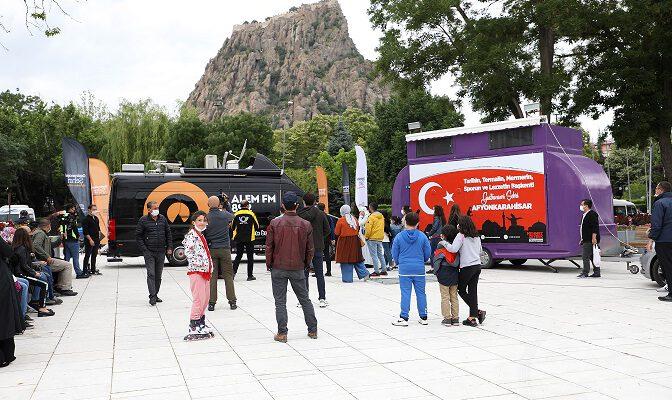 ALEM FM Afyon'dan canlı yayın yaptı