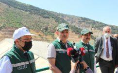 Bakan Pakdemirli 600 milyon TL'ye mal olan barajdan ilk suyu verdi