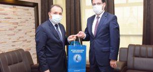 Başsavcı Çelenk'ten Rektör Karakaş'a veda ziyareti