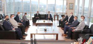 Deva Partisi Genel Başkanı Ali Babacan, ATSO'yu ziyaret etti