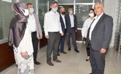 Başkan Zeybek'ten personeline bayram ziyareti