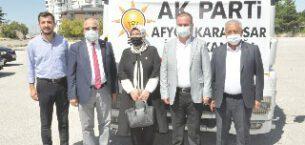 AK Parti, yangın bölgesine yardım tırı gönderdi