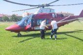 Boğazına bozuk para kaçan çocuk helikopter ambulansla hastaneye götürüldü
