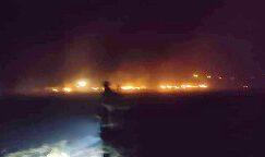 Şuhut'ta anız yangını korkuttu