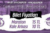 Afyonspor'dan bilet açıklaması