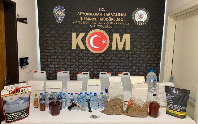 Kaçak alkol operasyonunda 1 kişi gözaltına alındı