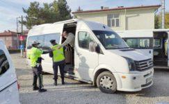 Şuhut'ta okul servis araçları denetlendi