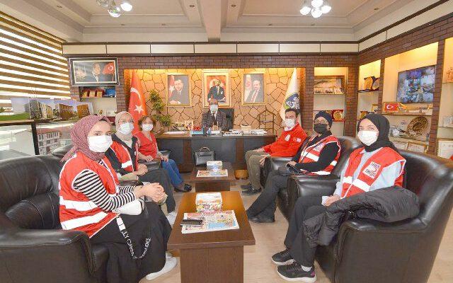 Türk Kızılayı Şubesinden Başkan Çöl'e ziyaret