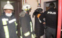 Yabancı uyrukluların evinde yangın çıktı
